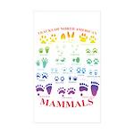 Tracks Of North American Mammals Sticker
