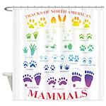 Tracks of North American Mammals Shower Curtain