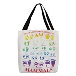 Tracks Of North American Polyester Tote Bag