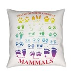 Tracks Of North American Mammals Everyday Pillow