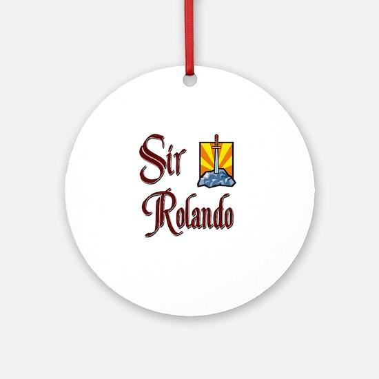 Sir Rolando Ornament (Round)
