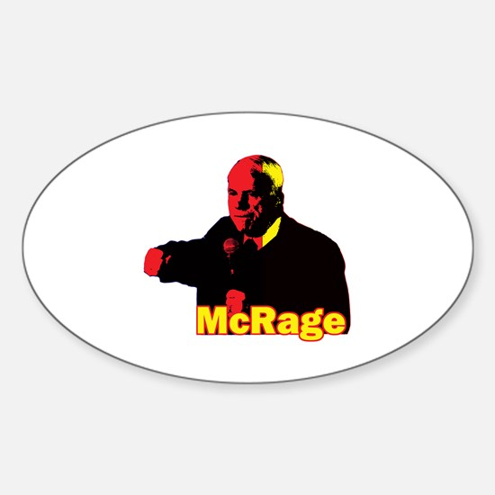 Funny Parody McCain McRage Temper Parody Decal