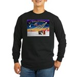 XmasSunrise/3 Cavaliers Long Sleeve Dark T-Shirt