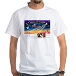 XmasSunrise/3 Cavaliers White T-Shirt