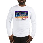 XmasSunrise/4 Chinese Cresteds Long Sleeve T-Shirt