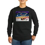 XmasSunrise/5 Cavaliers Long Sleeve Dark T-Shirt