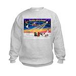 XmasSunrise/5 Cavaliers Kids Sweatshirt