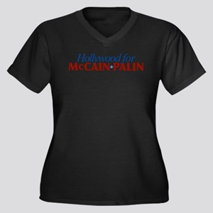 Hollywood for McCain Palin Women's Plus Size V-Nec