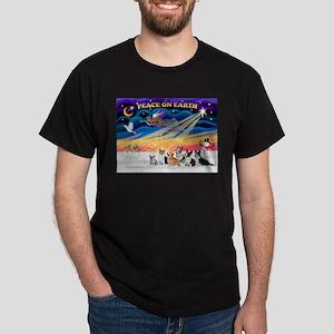 XmasSunrise/6 Corgis Dark T-Shirt