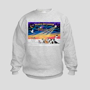 XmasSunrise/6 Corgis Kids Sweatshirt