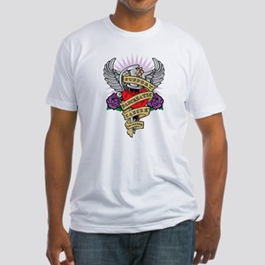 Pancreatic Cancer Dagger Tattoo Fitted T-Shirt