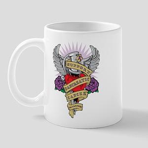 Pancreatic Cancer Dagger Tattoo Mug