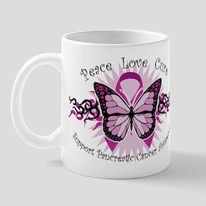 Pancreatic Cancer Tribal Butterfly Mug