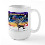 XmasSunrise/Great Dane (bl) Large Mug