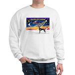 XmasSunrise/Great Dane (bl) Sweatshirt
