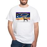 XmasSunrise/Great Dane (bl) White T-Shirt