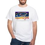 XmasSunrise/Italian Greyhound White T-Shirt