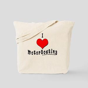I Love MotorBoating Tote Bag