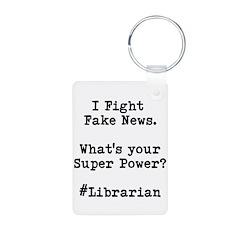 Librarian Fake News Keychains