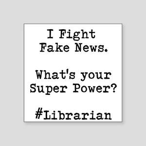 Librarian Fake News Sticker