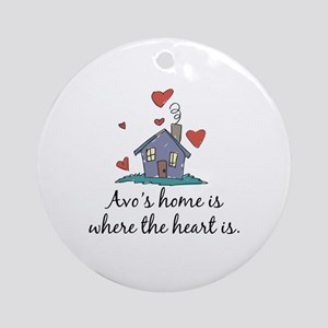 Avo's Home is Where the Heart Is Ornament (Round)