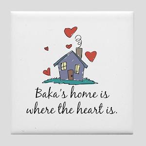 Baka's Home is Where the Heart Is Tile Coaster