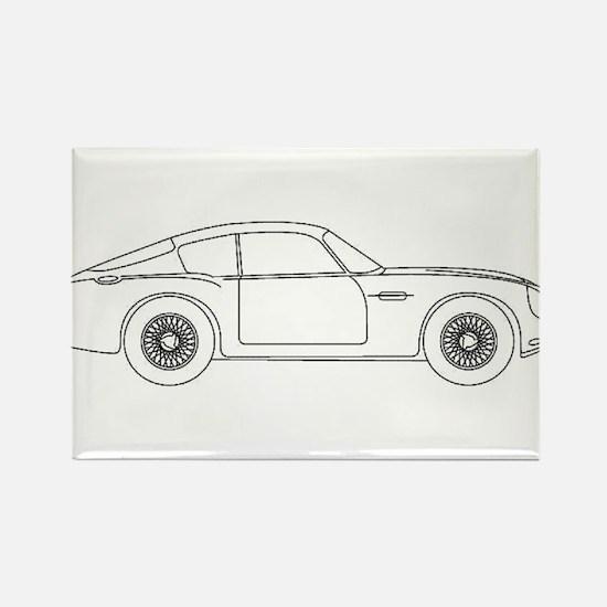 Aston Martin Zagato Rectangle Magnet
