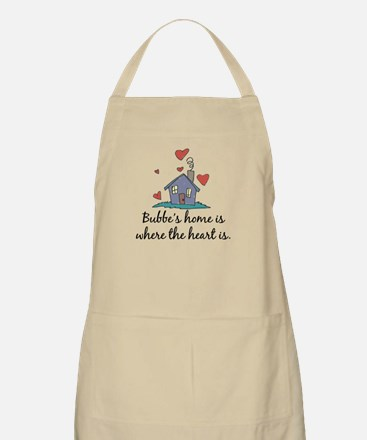 Bubbe's Home is Where the Heart Is BBQ Apron