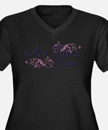 USAF Mom Women's Plus Size V-Neck Dark T-Shirt