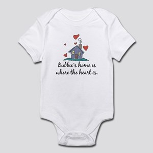 Bubbie's Home is Where the Heart Is Infant Bodysui
