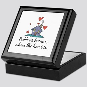 Bubbie's Home is Where the Heart Is Keepsake Box