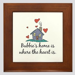 Bubbie's Home is Where the Heart Is Framed Tile