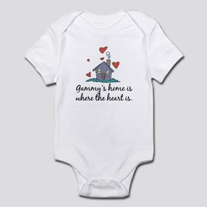 Gammy's Home is Where the Heart Is Infant Bodysuit