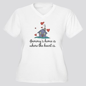 Gammy's Home is Where the Heart Is Women's Plus Si