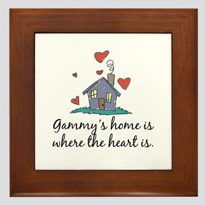 Gammy's Home is Where the Heart Is Framed Tile