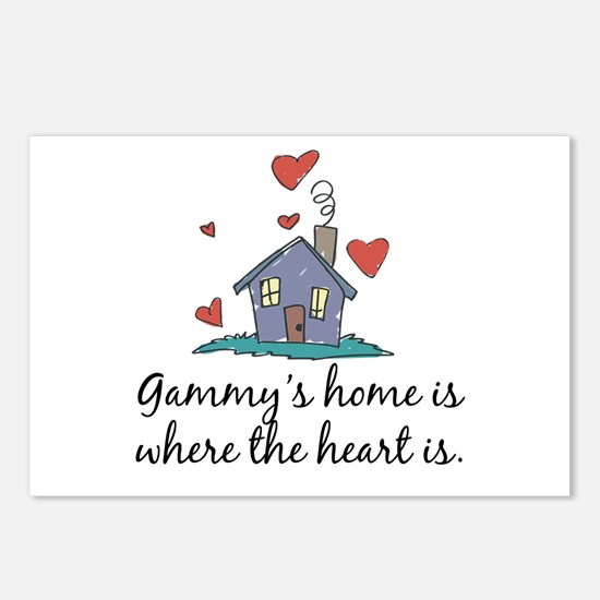Gammy's Home is Where the Heart Is Postcards (Pack