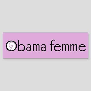 Obama femme bumper sticker