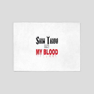 Shin Taido in my blood 5'x7'Area Rug