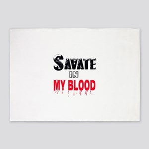 Savate in my blood 5'x7'Area Rug