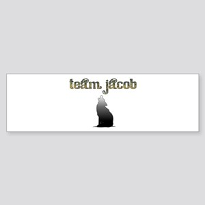 Team Jacob Wolf Bumper Sticker
