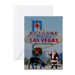 Personalized! Your FACE ON Santa LV Cards Pkg 10