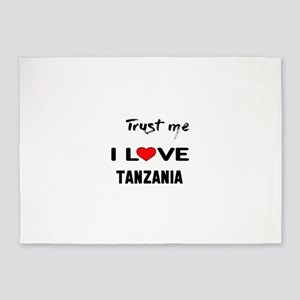 Trust me I Love Tanzania 5'x7'Area Rug