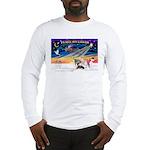 XmasSunrise/4 Ital Greyhnds Long Sleeve T-Shirt