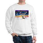 XmasSunrise/4 Ital Greyhnds Sweatshirt
