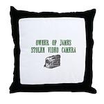 James Stolen Video Camera Throw Pillow