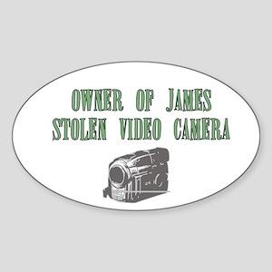 James Stolen Video Camera Oval Sticker