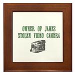 James Stolen Video Camera Framed Tile
