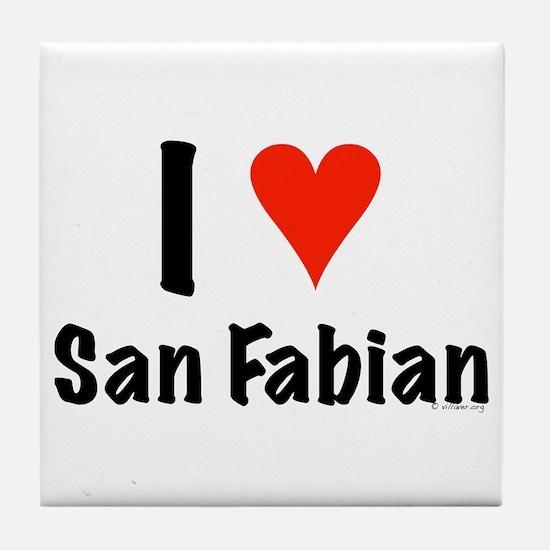 I love San Fabian Tile Coaster