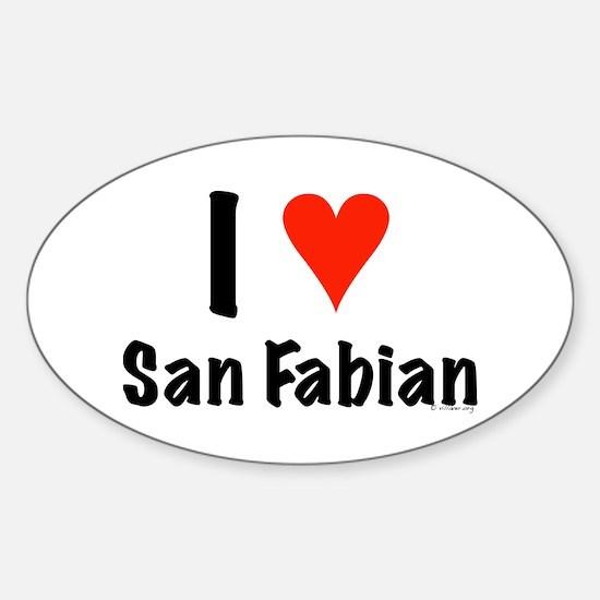 I love San Fabian Oval Decal