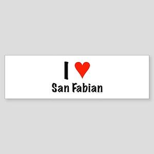 I love San Fabian Bumper Sticker